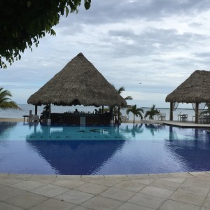 The swim-up bar at the Belize Ocean Club